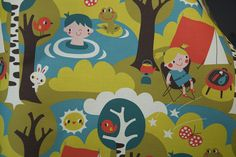 Camping by Bora by Spoonflower Fabrics, via Flickr