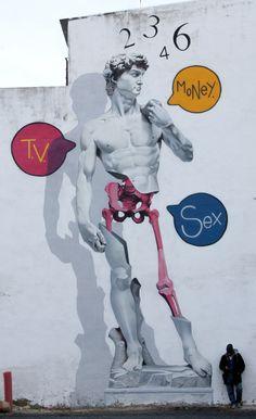 O graffiti de Man o Matic .