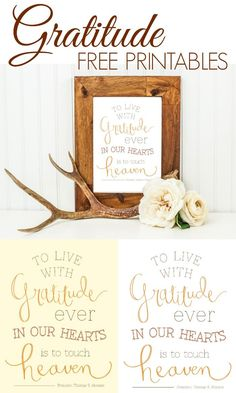 Gratitude printable that is fantastic!! Click above for your free printable!