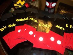 Personalized Mickey Mouse Handmade Favor Bags by CraftyParfait, $25.00