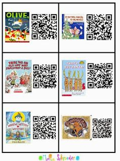 Friends~I have been putting these fun QR codes in my listening center since October. My kiddos love them soooo much! In fact, I can't take the Halloween and Thanksgiving ones down because they still