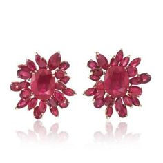 Chopard ruby earrings worn by Isabella Rossellini on the Cannes 2015 red carpet.