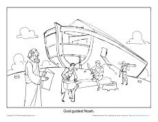 noah ark coloring page | bible | pinterest | sunday school and ... - Noahs Ark Coloring Page Printable