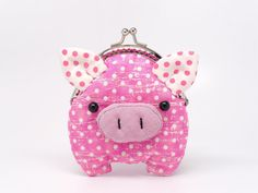 Items similar to Little hot pink piggy clutch purse on Etsy Clutch Purse, Purse Wallet, Cute Coin Purse, Cute Piggies, Frame Purse, This Little Piggy, Zipper Bags, Purses And Bags, Coin Purses