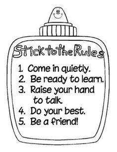 "Would be cute to make a giant ""glue"" poster to write your classroom rules on! :)"