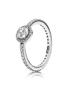 2b4cb8449755 Pandora Ring - Sterling Silver   Cubic Zirconia Classic Elegance Anillos De  Promesa