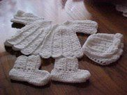 Crocheted Baby Set (Shell Stitch) With Matching Afghan and Bloomers | Craftingranny's Craft & Sewing Room