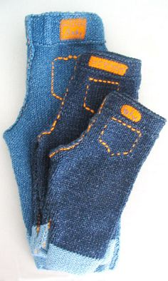 Knitted Baby Jeans free pattern link