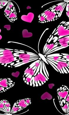 Butterflies with Hearts