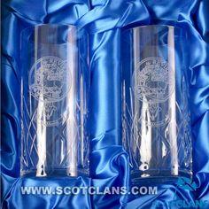 Maxwell Clan Crest HighBall Glasses