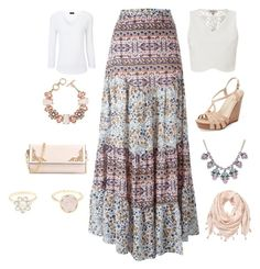 """""""Boho"""" by amna15 ❤ liked on Polyvore featuring See by Chloé, Lipsy, Joseph, ShoeDazzle, Seychelles and Charlotte Russe"""