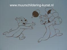 Knabbel en Babbel muurschildering