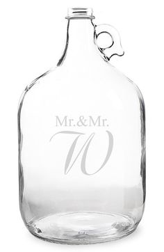 Cathy's Concepts 'Mr.& Mr. - Wedding Wishes in a Bottle' Gallon Growler Guest Book - White