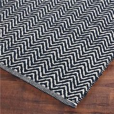 Navy Chevron Flat Weave Rug Farmhouse Style Rugs Office
