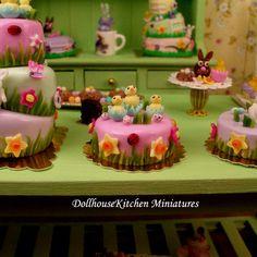 Dollhouse Miniature Easter Cake