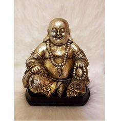 Huge! Fat Laughing Buddha belly *Sitting Buddha Statue* - Meditating Room Yoga Zen Sculpture - *Vintage/Antique Look* Boho Room Home Decor