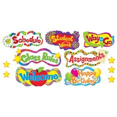 Browse our collection of award-winning classroom décor themes, educational card games, bulletin board sets, fun stickers for teachers, and more online! Classroom Display Boards, Door Bulletin Boards, Classroom Signs, Classroom Decor Themes, Classroom Displays, Student Of The Week, Class Rules, Board Decoration, Personalized Stickers