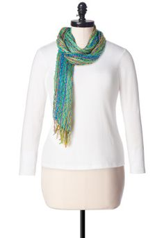Open Weave multi color scarf - Christopher & Banks