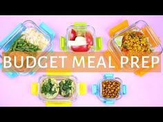 EASY MEAL PREP WITH ME! | Healthy Meal Prep for the Week - YouTube