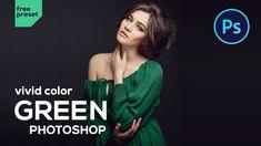 Photoshop Filters Free, Photoshop Presets Free, Photoshop Youtube, Green Colors, Vivid Colors, Photography Hacks, Camera Raw, Photo Manipulation, Photo Credit