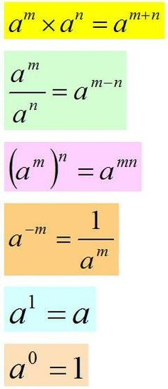 Üslü sayılar #Mathematics