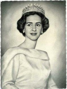 Doña Fabiola de Mora y Aragón on her wedding day to King Baudouin of Belgium, December 15, 1960.