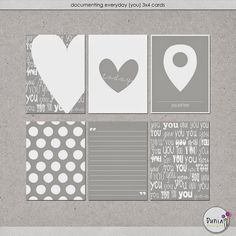 Quality DigiScrap Freebies: Documenting Everyday (You) journal cards freebie from Dúnia Designs