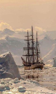 Ship by Valery Vasilevsky Tall Ships, Old Sailing Ships, Ship Paintings, Boat Art, Wooden Ship, Sail Away, Ship Art, Wooden Boats, Model Ships