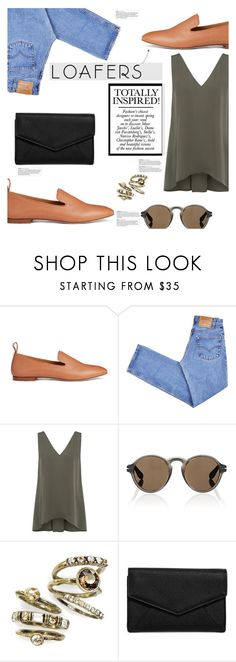 """""""Fall Footwear Trend: Loafers"""" by chakragoddess ❤ liked on Polyvore featuring Joseph, Levi's, Theory, Givenchy, Sweet Romance and LULUS"""