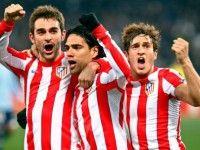 El Atlético de Madrid vence en Roma a la Lazio en el partido de ida de 1/16 de final de la Europa League 2011/ 2012