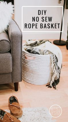 DIY No Sew Rope Bask