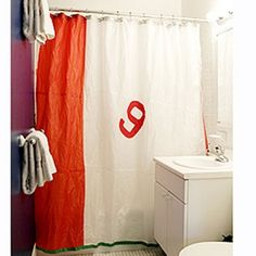 sailcloth shower curtain made from 100 recycledboathousebags