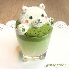 How to Make 3D Latte Art - Matcha Green Tea Paper Clay Tutorial by Maqaroon! so cute! How