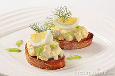 Toasted Bread And Egg Spread - Download From Over 44 Million High Quality Stock Photos, Images, Vectors. Sign up for FREE today. Image: 20783484