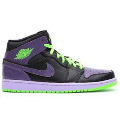 0a2580fcbbcac9 136065-021 Air Jordan 1 Retro Joker All-Star Black Green Purple Air Jordan