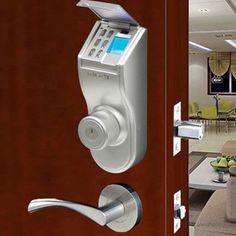 iTouchless Bio-Matic Fingerprint Left Handle Silver Deadbolt Door Lock