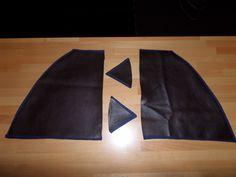 18. Leder mit Stoffkleber drauf angebracht, fehlen noch die Knopflochnahten und die blauen Streifen an den Seiten ;-)