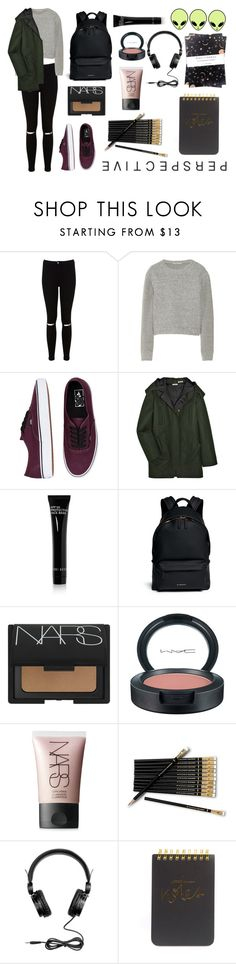 """Back to school"" by eirini-kastrou on Polyvore featuring Miss Selfridge, T By Alexander Wang, Vans, Miu Miu, Bobbi Brown Cosmetics, Givenchy, NARS Cosmetics, MAC Cosmetics, H&M and Sugar Paper"