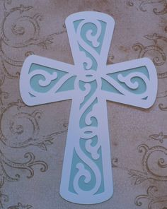 9 inch XL Pastel Blue and White Solid Shape by sandylynnbscrapping