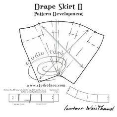 """Make your First Drape Skirt Pattern! #PatternFundamentals - Drape Skirt II""""  #CutTheTrends"""