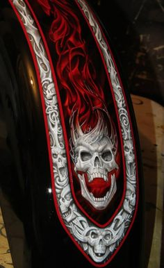awesome skull airbrush