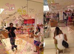 Espelho cheio de mensagens Daslu Desfile Inverno 2013  #agenciarg5