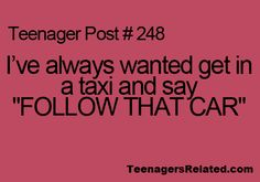 The sad thing is that I don't even like taxis. Especially after watching Sherlock....