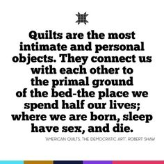 Quilts are a personal thing and I cannot always find the words to express how they make me feel. #quotes #quoteoftheday #quotestagram #dailyquote #quiltingquotes #spreadlove #typography #quiltersofinstagram #words