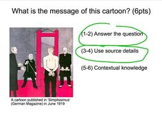 This video provides an in depth analysis of a GCSE History cartoon from the event surrounding the signing of the Treaty of Versailles (after Although applicable… History Cartoon, Treaty Of Versailles, Ipad App, Students, Boards, College, Messages, Technology, This Or That Questions