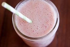 strawberry banana coconut smoothie