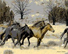 Running Horses Art Native American Totem Animal by GrayWolfGallery Native American Totem, Running Horses, Animal Totems, Western Art, Horse Art, Nativity, Giclee Print, Folk Art, Westerns