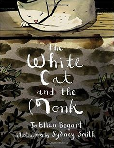 """The White Cat and the Monk is a retelling of the Old Irish poem """"Pangur Ban."""" It is the sweet and touching story of a monk, and the little white cat he shares his home with. Both lead simple lives, and both are searching for something. Best Children Books, Childrens Books, Irish Poems, Kids Poems, Books 2016, Cool Books, The Monks, Ink Illustrations, White Cats"""