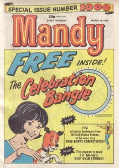 Mandy comic for girls. Yes we were allowed to be sexist then. 1970s Childhood, My Childhood Memories, Childhood Toys, School Memories, Old Comics, Vintage Comics, Vintage Books, British Home Stores, Teenage Years