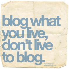Some Thoughts on Blogging<< Maybe this is why my blogging is quite sporadic.